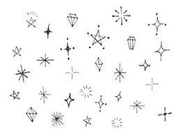 手書きのキラキラ素材のイラスト2種 Bullet Journal Ideas 手紙