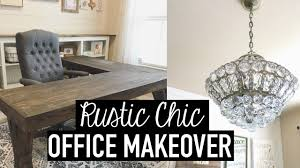Office makeover ideas Small Rustic Chic Office Makeover Diys Decor Tips Ideas Everyday Savvy Rustic Chic Office Makeover Diys Decor Tips Ideas Youtube