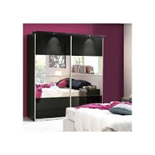 image mirrored sliding. Mirrored Sliding Wardrobe 170CM - Choice Of Colours Image
