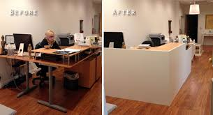 Ikea office hacks Pax Magnificent Ikea Reception Desk Hack Lobbeforeandafter Ikea Desk And Facade Office Ideas Valeria Furniture Magnificent Ikea Reception Desk Hack Lobbeforeandafter Ikea Desk And