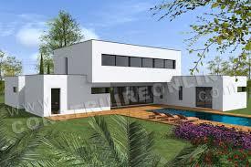 plan maison architecte lounge vue piscine