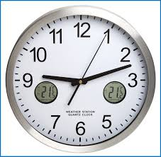 outdoor clocks with thermometers 106604 h b durac multi function og clock with indoor outdoor
