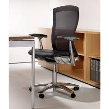 knoll life chairs. Knoll Life Chair With Leather Seat Topper Black Mesh Back In Office Chairs I