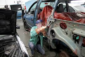 auto body repair.  Body Auto Collision Repair Student Working On A Car Body Intended Body Repair I