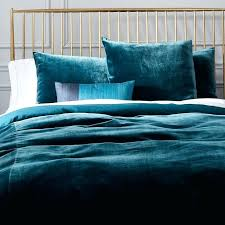 velvet comforter set king size duvet cover shams