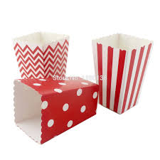Decorative Popcorn Boxes 60pcslot Chevron Striped Polka Dot Popcorn Boxes Carnival Circus 15