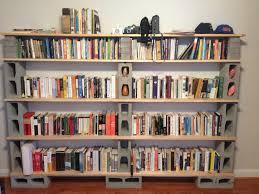 5 tier wood and cinder block shelves for diy shelves idea