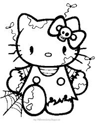 Kleurplaten Hello Kitty Halloween Brekelmansadviesgroep