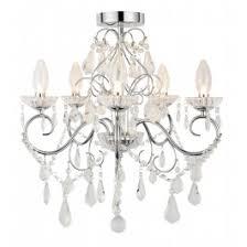 Bathroom lighting chandelier Crystal Ball Vela Light Chandelier Reddilight Spa Bathroom Lighting