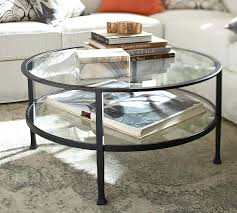 two tiered brass framed glass round coffee table in tables decor 30 round glass table top