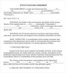 Safety Stock Agreement Template Sample Share Purchase Agreement