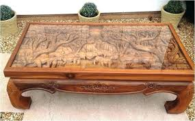 japanese hand carved coffee table antique tables lovely
