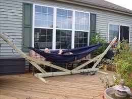 standart hammock stand plans