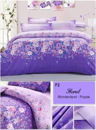 beautiful cotton fl wonderland purple bedding sets king queen twin full size 4pcs lavender lilac duvet cover flowers printed in bedding sets from home