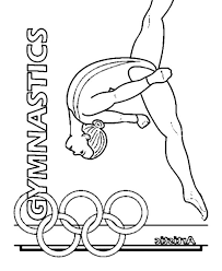Small Picture Coloring Pages Gymnastics Girl Coloring Coloring Pages