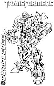 Blebee Transformer Coloring Pages Free Murderthestout