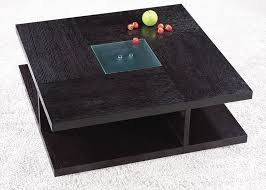 designer coffee tables stylish accessories square black wood coffee table with glass center