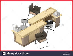 isometric office furniture vector collection. Office Furniture Workspace Isometric Flat Vector Collection A