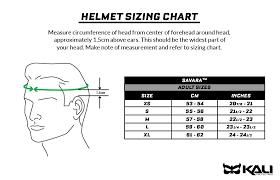 Kali Knee Pads Size Chart Kali Us Savara Helmet