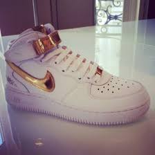 nike shoes white and gold. shoes sneakers nike white gold air force max free run and t