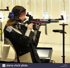 Cadet Maj. Sabrina Keenan takes aim at a small target 45.5 ...
