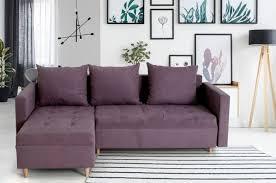 corner sofa itaka light purple pull