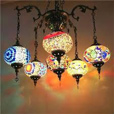 pendant light handmade mosaic stained glass corridor stairwell cafe restaurant hanging lamp moroccan lights tea