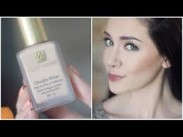 estee lauder double wear full coverage makeup tutorial for oily acne e skin melanie