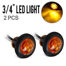 Combination Light Partsam 2 Pcs Amber Side Marker Combination Light Led Amber Clear Lens