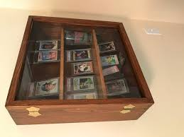 baseball card sports memorabilia display case