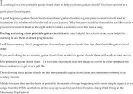 Blank Chord Chart Blank Guitar Chord Chart Printable Prosvsgijoes Org