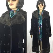 vendemmia 1970 borgazia faux fur coat 70 principessa cappotto brown doppia brested cappotto 36