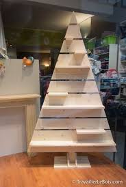 outdoor pallet christmas tree. christmas village display stand in the shape of a tree. painted white would be nice. ~ l\u0027air du bois - un sapin de noël en outdoor pallet tree n
