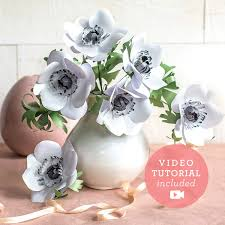 Paper Flower Kit Anemones Frosted Paper Flower Kit