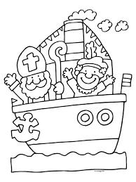 Kleurplaten Sinterklaas Stoomboot