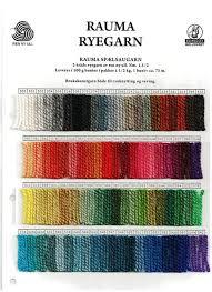 Rauma Ryegarn Norwegian Rug Yarn Color Card
