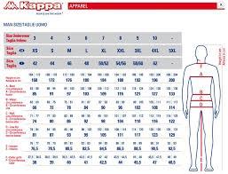 Kappa Size Chart Kappa 6cento 650a Fisi