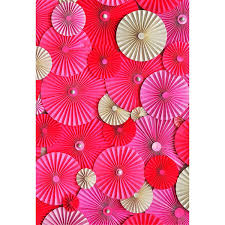 Red Paper Flower 2019 Digital Printed Pink Red Paper Flowers Backdrop Newborn Baby Shower Props Kids Children Girls Photography Studio Backgrounds From