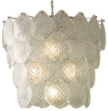 global views murano glass leaf chandelier