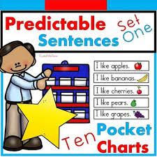Predictable Sight Word Sentence Pocket Charts Literacy Center 10 Pocket Charts