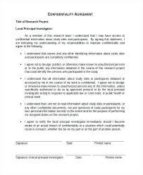 Confidentiality Agreement Samples Fax Confidentiality Statement Sample Agreement Form Free Documents