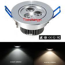 12v Recessed Led Lights Details About 3w 3 Leds Led Downlight Recessed Ceiling Light Led Lamp Spotlight 12v Ac85 265v