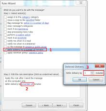 Setting Up A Delayed Sending Rule For Email In Microsoft Outlook