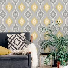 belgravia decor geometric yellow grey