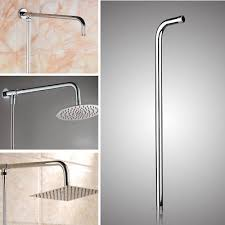 24 60cm wall shower head extension pipe long stainless steel arm bathroom home