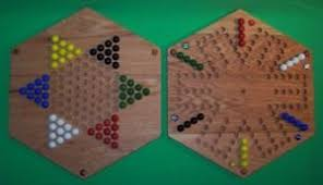Beautiful Wooden Marble Aggravation Game Board TwoSided Wooden Game Board Aggravation and Chinese Checkers 100 47