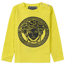Young Versace Size Chart Young Baby Medusa Logo Long Sleeve T Shirt