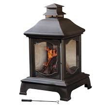 home depot outdoor fireplace fire pit ideas sunjoy louise 48 in chiminea l cm057pst the home depot