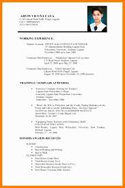 Curriculum Vitae Template Word Example Of Curriculum Vitae Free Cv Template Curriculum Vitae