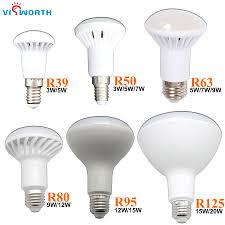Us 0 64 30 Off R50 Led Lamp E14 Led Bulb 3w 5w 7w 9w 12w 15w 20w Lampada Led Spotlight E27 Led Crystal Lamp Warm Cold White Lights Decoration In Led